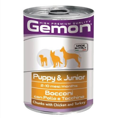 Gemon Dog s piščancem in puranom za mladiče in odraščajoče pse