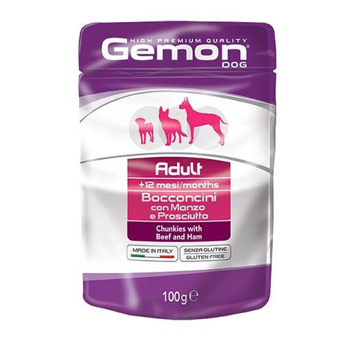 Gemon Dog z govedino in šunko za odrasle pse