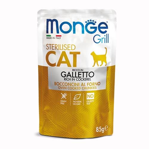 Monge Grill s petelinom za odrasle sterilizirane mačke