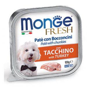 Monge Fresh Pate s koščki purana