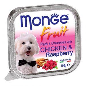Monge Fruit s piščancem in malino