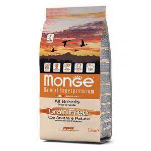 Monge Grain Free raca s krompirjem za odrasle pse brez zitaric