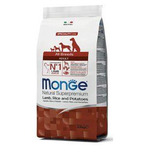Monge MONOPROTEINSKA z jagnjetino, rižem in krompirjem za odrasle pse