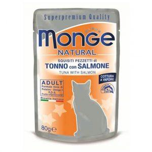Monge Natural hrana za odraslo macko s tuno in lososom