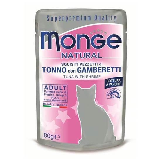 Monge Natural hrana za odraslo macko s tuno in rakci