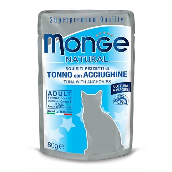 Monge Natural hrana za odraslo mačko s tuno in sardonom
