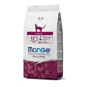 Monge hrana s piščancem in rižem za notranje mačke