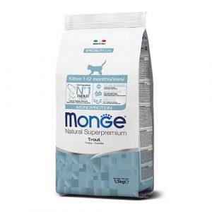 Monge monoproteinska hrana s postrvjo za mladiče in odraščajoče mačke