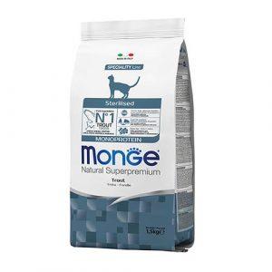 Monge monoproteinska hrana s postrvjo za sterilizirane mačke