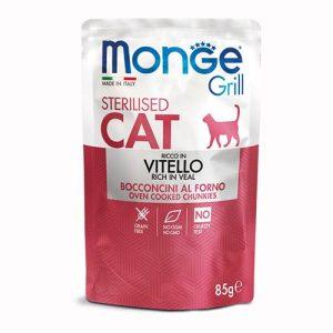 Monge Grill s teletino za odrasle sterilizirane mačke
