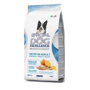 Special Dog s piščancem in rižem za odrasle pse srednje velikih pasem