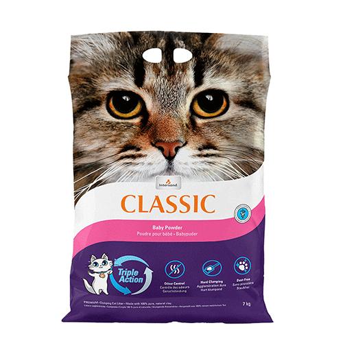 Intersand pesek za mačke z vonjem otroškega pudra