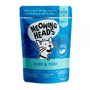 Meowing Heads s piščancem, ribo ter govedino
