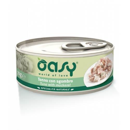 Oasy dopolnilna hrana tuna s skušo za odrasle mačke