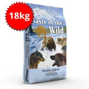 Taste of the Wild PACIFIC STREAM z lososom za odrasle pse 18kg