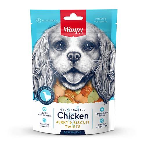Wanpy Chicken Jerky & Biscuit Twists