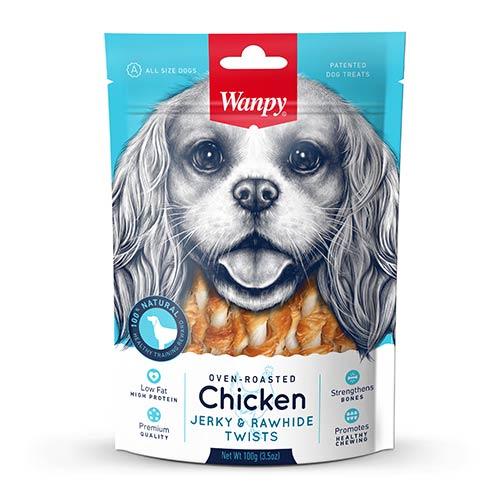 Wanpy Chicken Jerky & Rawhide Twists