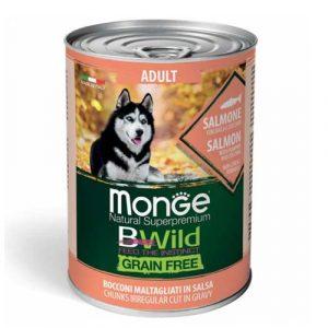 Monge Bwild z lososom za odrasle pse