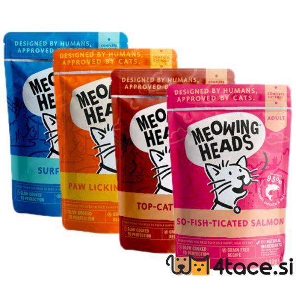 meowing heads mokra hrana za mačke miks