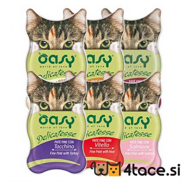 oasy delicate mokra hrana za mačke miks