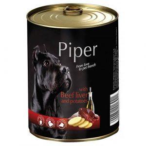 Piper z govejimi jetrci in krompirjem