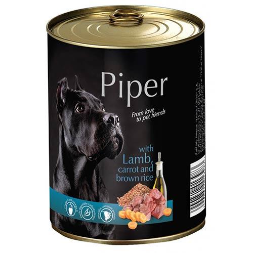 Piper z jagnjetino, korenjem in rjavim rižem