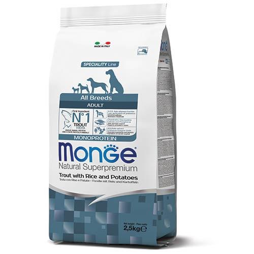 Monge MONOPROTEINSKA hrana z postrvjo za odrasle pse vseh pasem