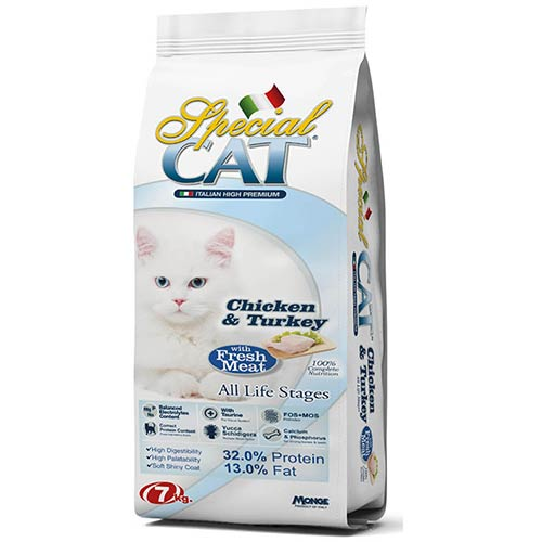 SPECIAL CAT s piščancem in puranom za odrasle mačke