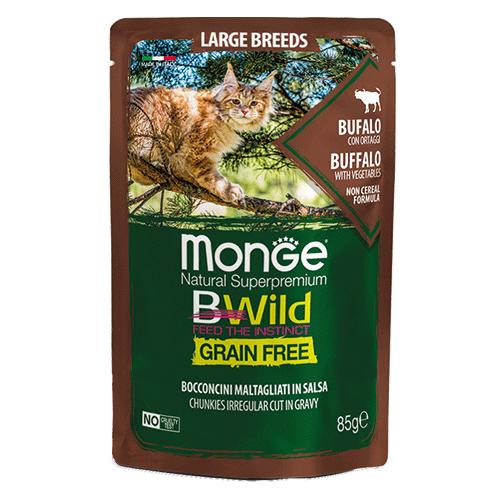 Monge BWild Bivol z zelenjavo za mačke vseh starosti