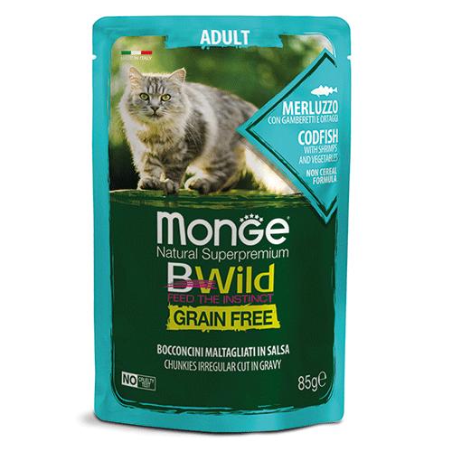 Monge BWild polenovka z zelenjavo za odrasle mačke