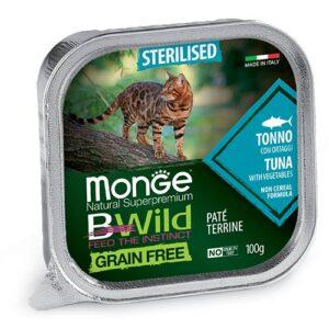Monge BWild Pate s tuno in zelenjavo za sterilizirane mačke